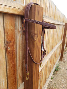Jerry Beagley Hot Oil Plain Browband W/ Snaps 013PLS