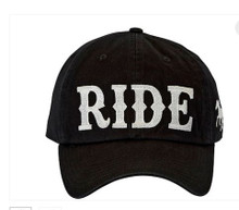 "AWST International Black ""RIDE"" Cap AC121BK"