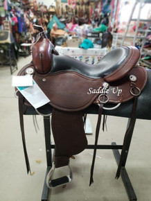 "15"" NEW ROUGHOUT CASHEL WESTERN TRAIL SADDLE SA-CT16-R"