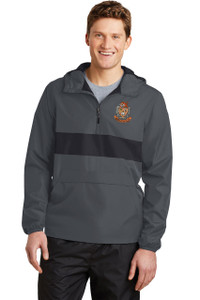 Brentsville EMBROIDERED Zipped Pocket Anorak Jacket/Pullover