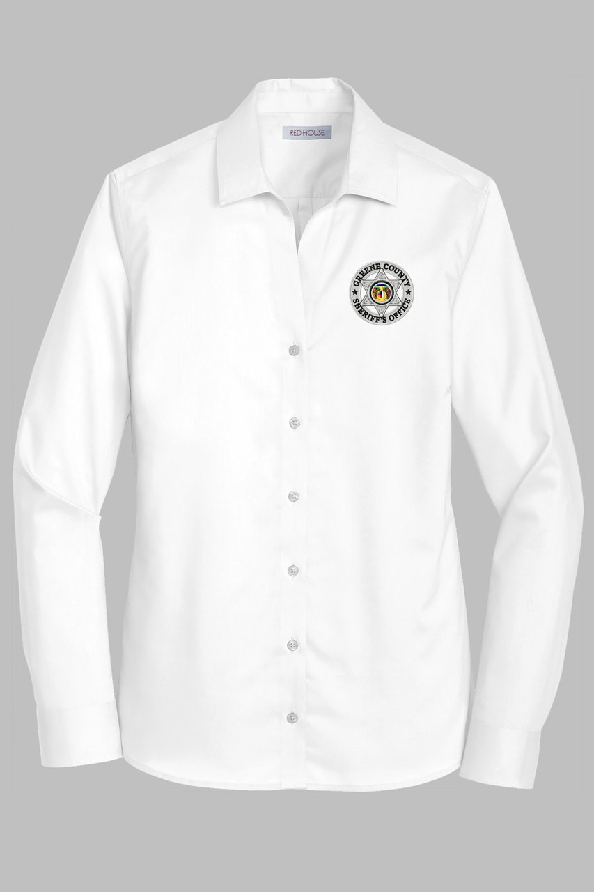 Gcso Ladies White Twill Dress Shirt Crackerjack Shack