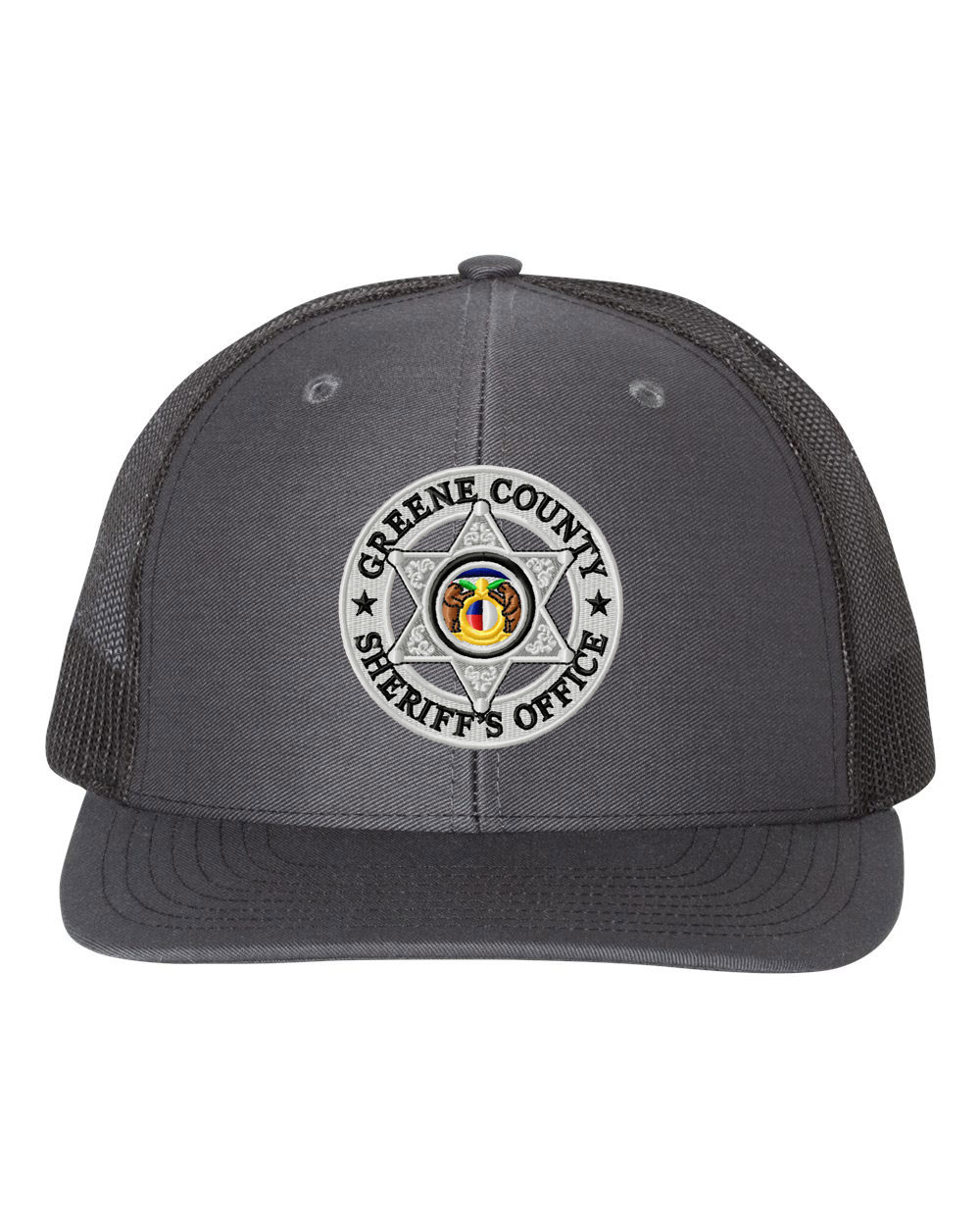 e8f159222ca09 GCSO Embroidered Badge Richardson 112 Cap - Charcoal Black