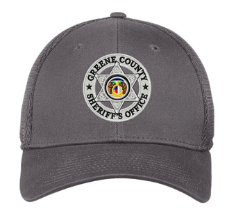 GCSO Embroidered Badge New Era Stretch Mesh Cap - Charcoal