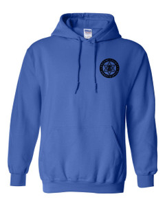 GCSO BADGE IN BLACK - Classic Heavy Weight Hoodie - Royal Blue