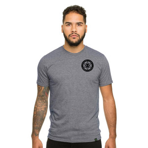 GCSO BADGE IN BLACK - Responsibly Crafted Triblend Tee - Aluminum Grey