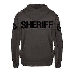 GCSO SLEEVE BADGE, SLEEVE PATCH & SHERIFF BACK IN BLACK - Performance Fleece Hoodie - Graphite