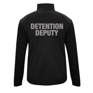 GCSO BADGE & DETENTION DEPUTY IN GREY - Performance Quarter Zip Pullover - Black