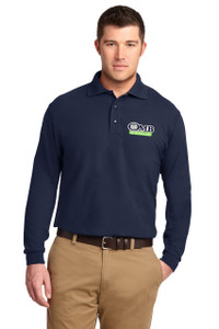 OMB Port Authority Silk Touch Long Sleeve Polo