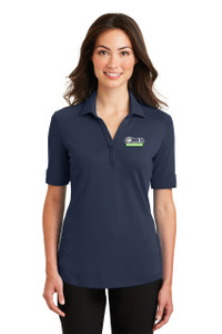 OMB Ladies Port Authority Smooth Interlock Blended Polo