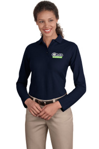 OMB Port Authority Silk Touch Long Sleeve Polo Ladies