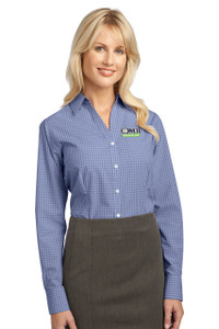 OMB Ladies Port Authority Plaid Pattern Easy Care Shirt