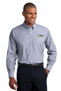 OMB Mens Port Authority Crosshatch Easy Care Shirt