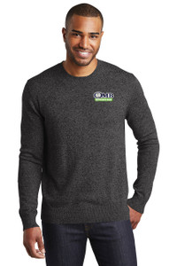 OMB Mens Port Authority Marled Crew Sweater