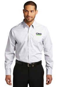 OMB Mens Port Authority Micro Tattersall Easy Care Shirt