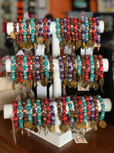 Blessed Are The PEACE MAKERS Papillon Bracelet - From Artisans in Haiti