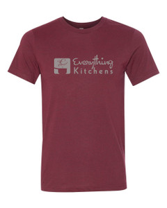 EVERYTHING KITCHENS - GREY - FULL FRONT LOGO - Super Soft Tee - Heather Cardinal