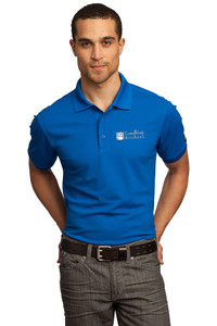 EVERYTHING KITCHENS - GREY/WHITE EMBROIDERED LOGO - Premium Performance Polo - Electric Blue