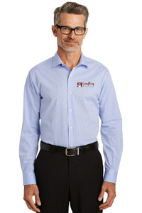EVERYTHING KITCHENS - FULL COLOR EMBROIDERED LOGO - Graph Check No-Iron Dress Shirt - Light Blue
