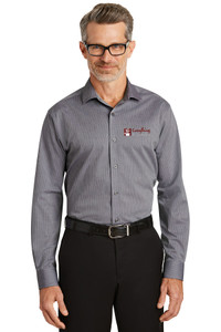 EVERYTHING KITCHENS - FULL COLOR EMBROIDERED LOGO - Graph Check No-Iron Dress Shirt - Navy