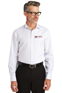 EVERYTHING KITCHENS - FULL COLOR EMBROIDERED LOGO - Graph Check No-Iron Dress Shirt - White