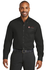 EVERYTHING KITCHENS - FULL COLOR EMBROIDERED LOGO - No-Iron Twill Shirt - Black