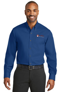 EVERYTHING KITCHENS - FULL COLOR EMBROIDERED LOGO - No-Iron Twill Shirt - Blue Horizon