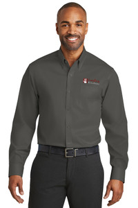 EVERYTHING KITCHENS - FULL COLOR EMBROIDERED LOGO - No-Iron Twill Shirt - Grey Steel