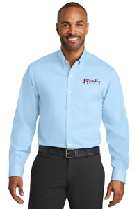 EVERYTHING KITCHENS - FULL COLOR EMBROIDERED LOGO - No-Iron Twill Shirt - Heritage Blue