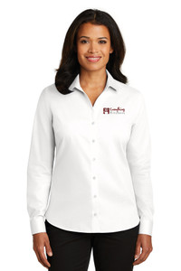 EVERYTHING KITCHENS - FULL COLOR EMBROIDERED LOGO - No-Iron Twill LADIES Shirt - White