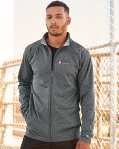 EVERYTHING KITCHENS - FULL COLOR EMBROIDERED LOGO - Performance Full Zip Jacket - Slate Grey Heather