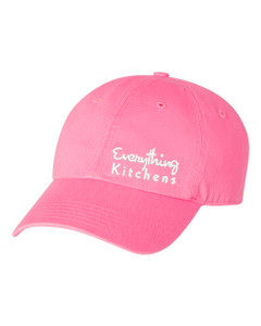 EVERYTHING KITCHENS - WHITE TEXT EMBROIDERY - Richardson Washed Chino Cap - Hot Pink