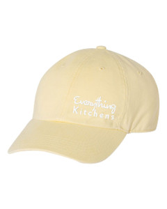 EVERYTHING KITCHENS - WHITE TEXT EMBROIDERY - Richardson Washed Chino Cap - Mellow Yellow