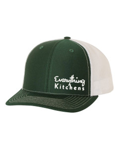 EVERYTHING KITCHENS - TEXT EMBROIDERY - Richardson Snap Back Trucker Cap - Green/White