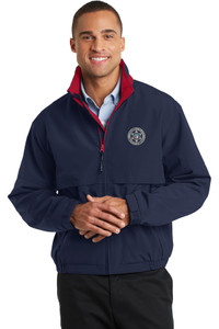 GCSO CHROME BADGE - Water Resistant Light Weight Jacket - Navy/Red