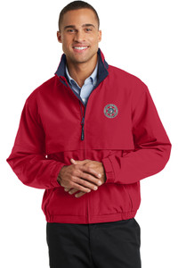 GCSO CHROME BADGE - Water Resistant Light Weight Jacket - Red/Navy