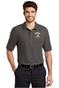 STRIPES 360 - Classic Men's Polo - Charcoal Heather Grey