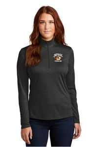 STRIPES 360 - LADIES Heathered Quarter Zip Pullover - Black Heather