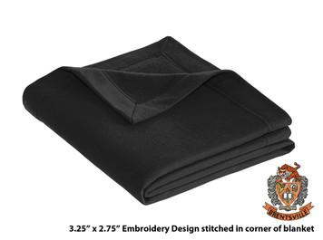 Brentsville EMBROIDERED Black Sweatshirt Stadium Blanket