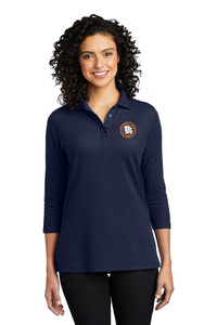 MOCIC Ladies Smooth Blend 3/4 Sleeve Polo - Navy
