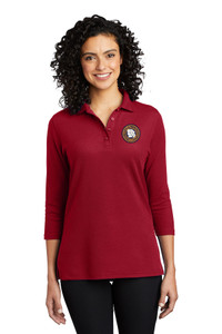 MOCIC Ladies Smooth Blend 3/4 Sleeve Polo - Red