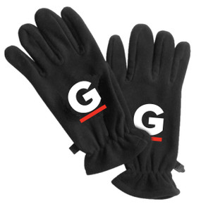 Gutterglove® WHITE & RED G - Fleece Gloves - Black