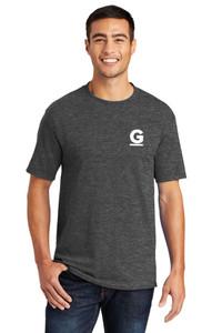 Gutterglove® FLC WHITE G - TALL Unisex Tee - Dark Heather Grey
