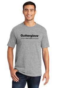 Gutterglove® FULL FRONT BLACK WORDMARK - TALL Unisex Tee - Athletic Heather