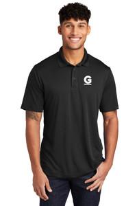 Gutterglove® EMBROIDERED FLC WHITE G - Unisex Performance Polo - Black