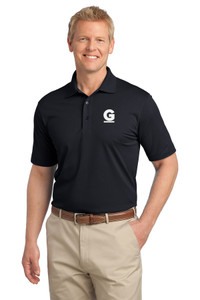 Gutterglove® EMBROIDERED FLC WHITE G - TALL Unisex Polo - Black