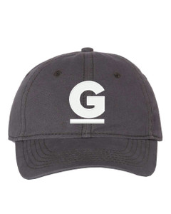 """Gutterglove® EMBROIDERED CAP FRONT WHITE G - """"Dad"""" Cap - Charcoal"""