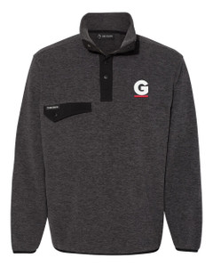 Gutterglove® EMBROIDERED FLC WHITE & RED G - DRI DUCK® Fleece Pullover - Charcoal
