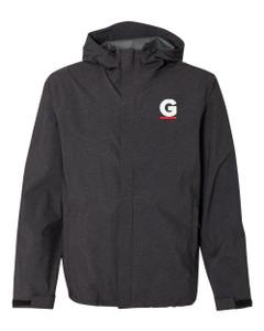 Gutterglove® EMBROIDERED FLC WHITE & RED G - Premium Rain Jacket - Black