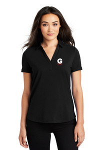 Gutterglove® EMBROIDERED FLC WHITE & RED G - OGIO® Ladies Polo - Black