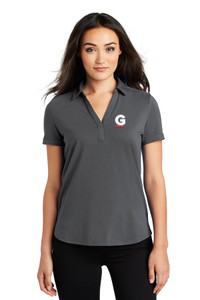 Gutterglove® EMBROIDERED FLC WHITE & RED G - OGIO® Ladies Polo - Dark Grey